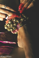 Tying of Ghungroos (Lifestyle & Wedding Photography by Rohan Potdar) Tags: dance indian classical exponent mudras bharatanatyam danseuse ghungroos