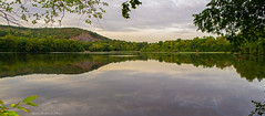 Ramapo River Oakland_Panorama_22-24 (smack53) Tags: trees summer sky panorama lake mountains water clouds reflections river oakland evening newjersey pond nikon stream cloudy overcast summertime ramaporiver d3100 smack53
