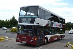 Lothian Buses Scania N94UD 999 SK06AHN - Gyle Centre, Edinburgh (dwb transport photos) Tags: bus edinburgh scania 999 decker lothianbuses omnicity sk06ahn thegylecentre