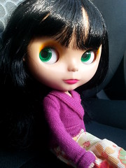 322/365 Another busy day (sozzielou) Tags: green car eyes side glance edna 365blythe