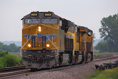 Eastbound UP Manifest Train at Lawrence, KS (Mo-Pump) Tags: railroad train railfan railroader