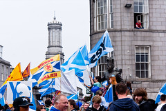 highlander (pamelaadam) Tags: autumn people digital scotland yes political fotolog september aberdeen independance 2014 lurkation thebiggestgroup