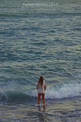Mirando al Mar (Guervs) Tags: sunset sea espaa woman beach atardecer mar seaside andaluca mujer spain mediterranean playa viento granada andalusia olas almucar mediterrneo poniente costatropical tropicalcoast
