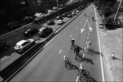skyride (generalzorn) Tags: city urban film pentaxk1000 coventry ilforddelta100 vivitar19mm
