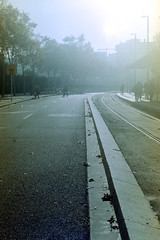 (John Rios A.) Tags: barcelona street city light shadow urban film canon john 50mm bcn urbano rios ftb analgico ql