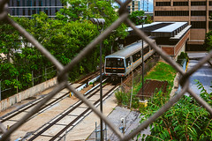 End Of The Blue Line (ThomasAWilson) Tags: city atlanta urban fence publictransportation atl streetphotography marta exploration