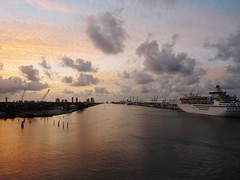 Sunrise at Port of Miami, FL (honestys_easy) Tags: cruise carnival vacation mexico florida miami fortlauderdale beaches fl keywest cozumel carnivalvictory carnivalcruiseline