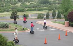 terror on two wheels (rovingmagpie) Tags: colorado gardenofthegods coloradosprings segway noentry outlaws segways bikergangs gettinghigh2014