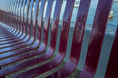 Park bench abstract