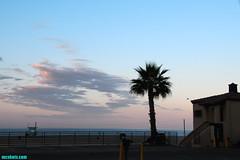 SantaMonicaSunrise (mcshots) Tags: ocean california morning travel sea summer sky usa beach water clouds sunrise palms coast sand santamonica stock pch socal mcshots lifeguardtower losangelescounty