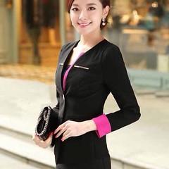เสื้อสูท แฟชั่นเกาหลีสวยใส่ดูงานหรูออกงานราชการใหม่ นำเข้า ไซส์S สีดำ - พร้อมส่งTJ7251 ราคา1450บาท เสื้อสูทผู้หญิง ใส่เพิ่มความมั่นใจ เสริมบุคลิกจะใส่ออกงานราชการ พบลูกค้าร่วมประชุมสำคัญซื้อเสื้อสูทแฟชั่นพร้อมส่งรุ่นใหม่สวยๆออนไลน์ที่ร้าน LOTUSNOSS ได้แล้