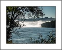 Nebelwand in der Donau (Wall of fog over the Danube) (alfred.hausberger) Tags: fog nebel landschaft donau niederbayern donautal morgennebel nebelwand