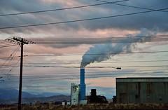 Clouds of Pink & White (JasonCameron) Tags: sunset storm brick industry lines rain clouds utah industrial factory power south jordan
