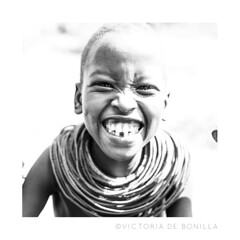 Thank you Kenya! (Victoria de Bonilla) Tags: boy smile kenya sonrisa tribe niño samburu kenia tribu