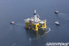 Pioneer Prepares For Arctic (Greenpeace USA 2016) Tags: seattle usa washington shell aerial gas arctic rig oil tug bainbridge climatechange climate drilling fossilfuel polarpioneer
