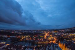City Night Lights (kornflakezzz) Tags: city stadt lübeck luebeck lights licht lichter night shot nightshot abend dämmerung himmel wolken sky sony alpha sigma a57