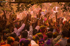 Chaotically Serene (rohansett) Tags: colours holi santiniketan festival