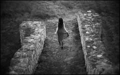 ** (derlevi) Tags: woman girl run summer wind dress freedom walls