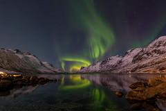 Aurora in the fjord (John A.Hemmingsen) Tags: auroraborealis arcticlight astronomy ersfjordbotn tromsø fujinon1024 fujifilm xt2