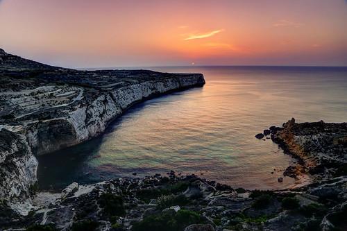 Sunset at Fomm ir-Rih Beach, Malta