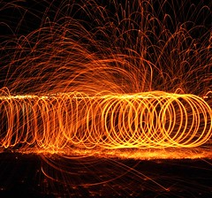 Tunnel Vision (JM's Photos & Stuff) Tags: death metal spinning burning steel wool light it run
