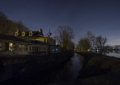365-48 (• estatik •) Tags: 36548 365 48 february172017 feb 21717 fri friday night long exposure panorama north newhope pa pennsylvania odette odettes abandoned old historic canal delaware state park tow path dark darkness river stars buckscounty soon be demolished