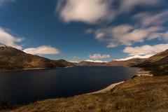 Loch Quoich by Moonlight (emperor1959 www.derekbeattieimages.com) Tags: lochquoich moonlight mountains knoydart glenquoich sgurrnaciche snow winter scotland clouds stars orion