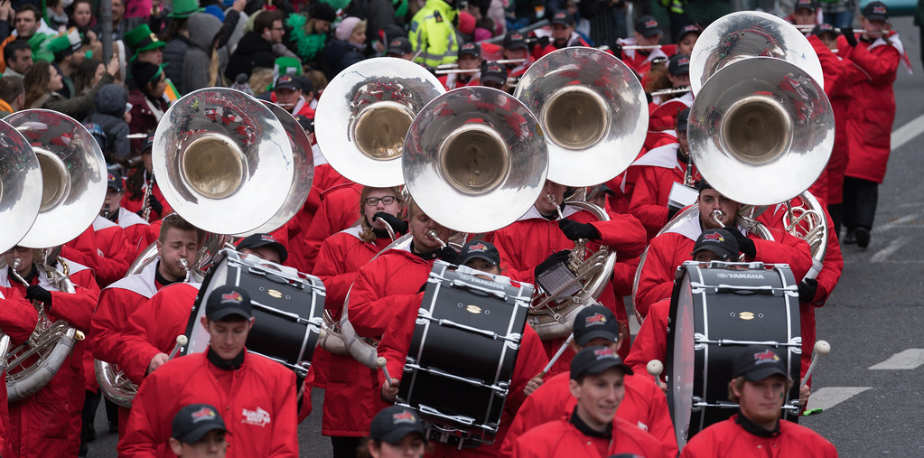 Illinois State University's Big Red Marching Machine [St. Patricks Parade 2017]-125854