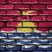 National Flag of Kiribati on a Brick Wall