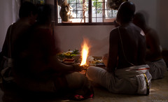 Pooja at home (adhish_prakash) Tags: red people pooja chennai agni tambrahm humansofchennai