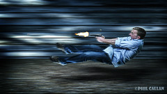 Bang Bang 10/52 (isitaboutabicycle) Tags: selfportrait matrix pistol bullettime greenscreen selfie chromakey gunman gunfire speedingbullet memsyselfandi