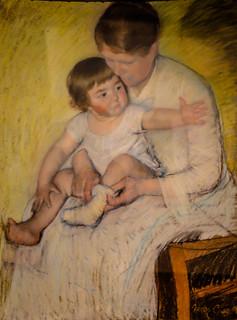 Mary Cassatt - The Stocking, 1891 at Museu Calouste Gulbenkian Lisbon Portugal