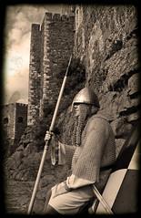 A guard rests his bones (Sam Knox) Tags: history actors medieval historic norman acting northernireland vikings viking reenactment carrick normans countyantrim carrickfergus kragferguslivinghistorygroup kragfergus