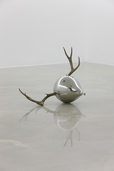 Untitled     Stainless steel, Antler.    90 X 60 X 57 (cm)  36 X 24 X 23 (inch)