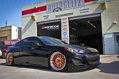 Hyundai Genesis Coupe AG Forged F141 Slammed (Autoglitz) Tags: with suspension air rear front ag genesis hyundai coupe forged slammed nitto 2253520 2453520 f141 20x95 20x105 nt555 autoglitz