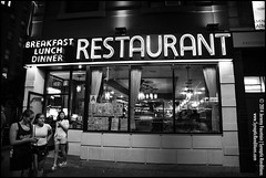 B&W Desire (jeremy.fountain) Tags: nyc newyorkcity newyork neon unitedstates manhattan diners greenwichvillage waverlyrestaurant waverlydiner newyorkcountyny