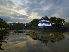 () Japanese Castle at Sunset (DigiPub) Tags: sunset tokyo moat explored   11378311 g11995281 p20140704