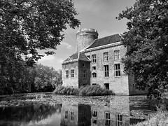 Castle Loenersloot (Horizon Enterprises) Tags: bw lake holland reflection castle history monument nature netherlands dutch river pond meer nederland kasteel vijver reflectie loenen spiegelbeeld rijksstraatweg baambrugge loenersloot angstel