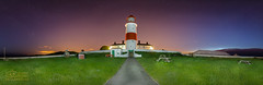 Souter Lighthouse, South Shields, Panoramic (solidtext) Tags: panorama lighthouse night clouds photography south panoramic shields softer noctilucent souter souterlighthouse