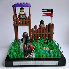 Back entrance to the camp (kenobi8) Tags: camp castle lego moc kingdoms