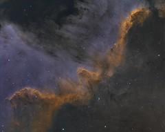 NGC 7000 (John.R.Taylor (www.cloudedout.squarespace.com)) Tags: sky night stars space ngc nebula astrophotography astronomy cs5 pixinsight 3nm astrometrydotnet:version=14400 hafilter oiiifilter aa6rc atik460ex idaslp2