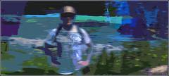Lakeshore Portrait (Tim Noonan) Tags: digital photoshop lakeshore portrait cutout shapes colours abstract figure helmet landscape tree canadian humberbay watercolour awardtree ultramodern