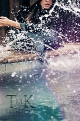 Engulf (tiffmkuan) Tags: portrait black water pool rain female self wave medieval hood splash kefta