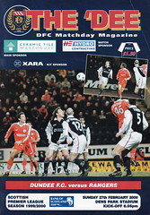 Dundee vs Rangers - 2000 - Cover Page (The Sky Strikers) Tags: park scotland dundee bank dee rangers dens the of