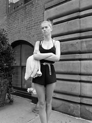 (mattselvagn) Tags: street new york city nyc girls urban bw woman white black film girl 35mm square photography format fujufilm vsco vscocam