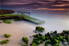 step into a dream (Maciek Gornisiewicz) Tags: ocean longexposure sunset seascape west pool clouds canon landscape photography evening coast moss rocks dusk indian tripod australia filter shore perth western maciek 2014 1635mm darkelf mettams 5dii gornisiewicz stepintothedream