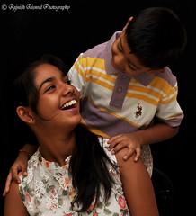 Brother and Sister (rajnishjaiswal) Tags: boy girl smiling kids nikon gimp sibling brotherandsister rashi strobe bigsister 2470mm d90 kidbrother vrisan sb710