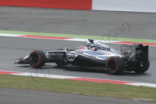 Jenson Button during the 2014 British Grand Prix