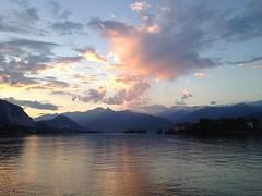 Stresa Lago Maggiore al tramonto