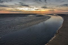 Let it flow (alun.disley@ntlworld.com) Tags: sunset sky beach nature water clouds reflections sand vista wallasey wirral newbrighton merseyside nikond7100